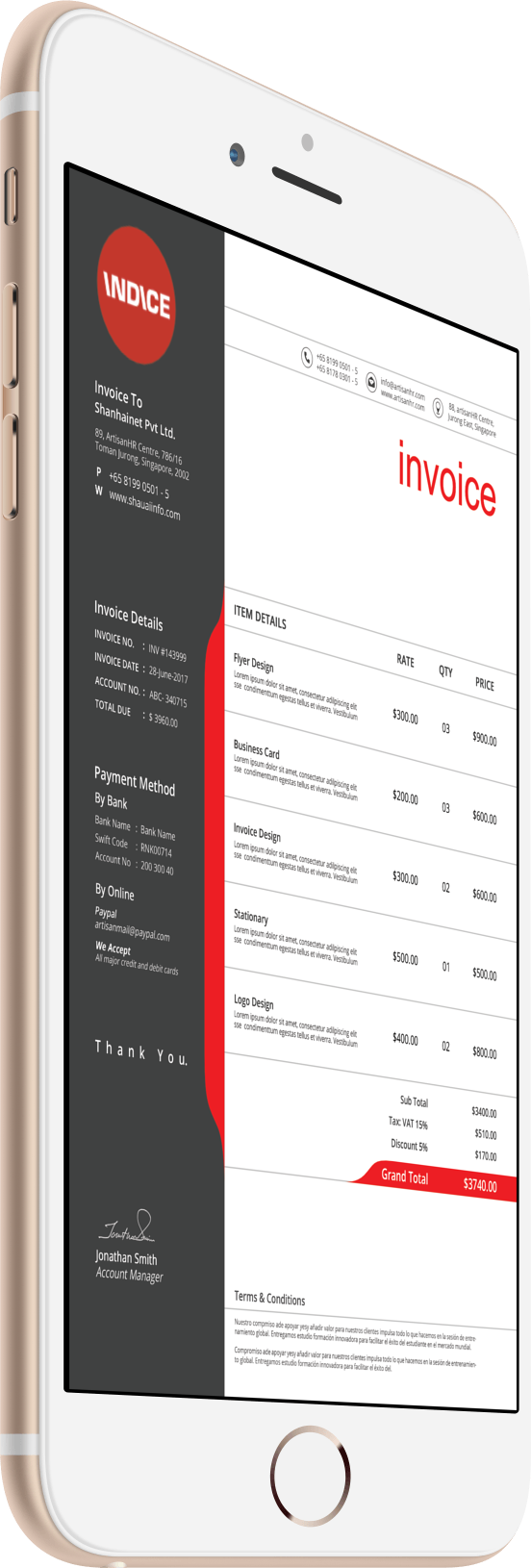 invoice-in-iphone